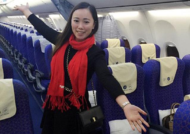 一名張姓女孩成了一架從武漢飛往廣州的航班上的唯一乘客