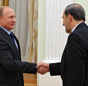 普京与伊朗最高领袖顾问韦拉亚提
