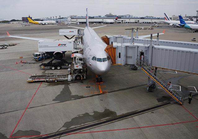 飞机在东京机场