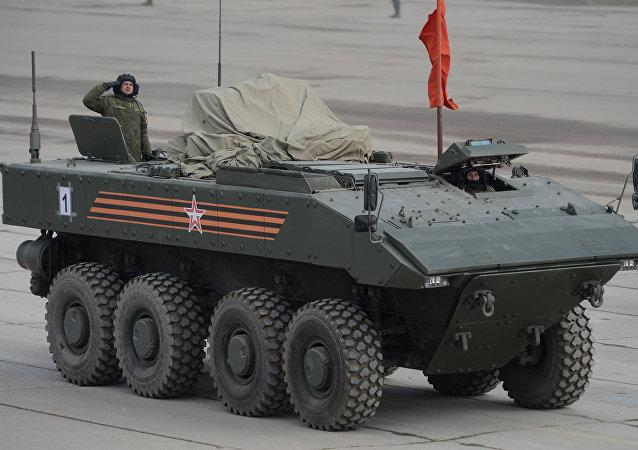 俄羅斯新型「回旋鏢」裝甲運兵車開始測試