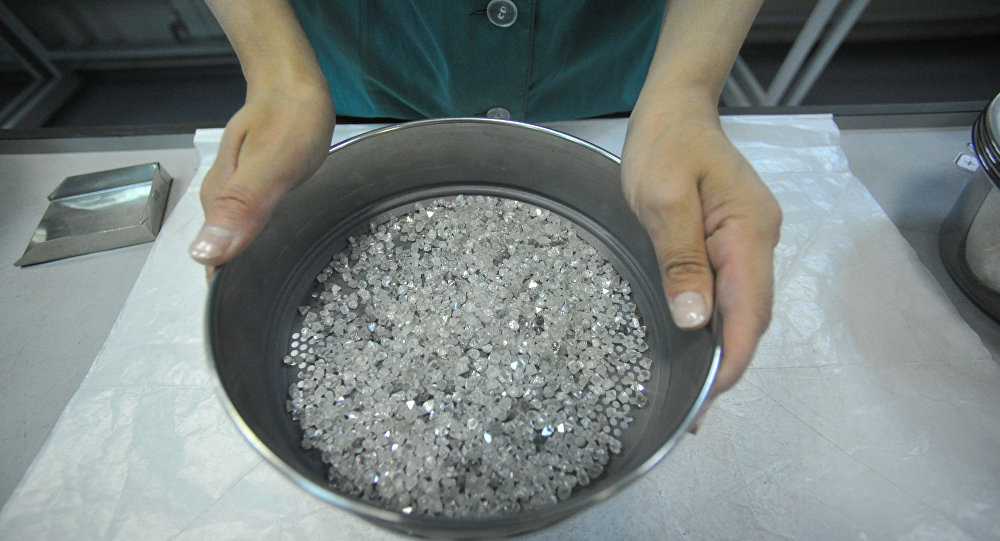 俄钻石公司2017年钻石产量提高6% 达3960万克拉