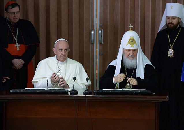 俄東正教大牧首與羅馬天主教教宗會晤後通過聯合宣言