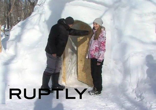 勘察加建起俄羅斯首個雪屋賓館
