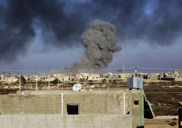 国际联盟在伊拉克进行打击/资料图片/