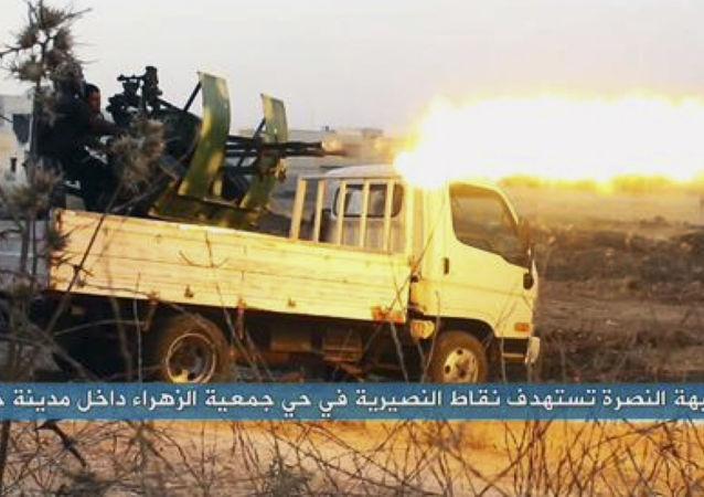 """恐怖组织""""努斯拉阵线""""的武装分子"""