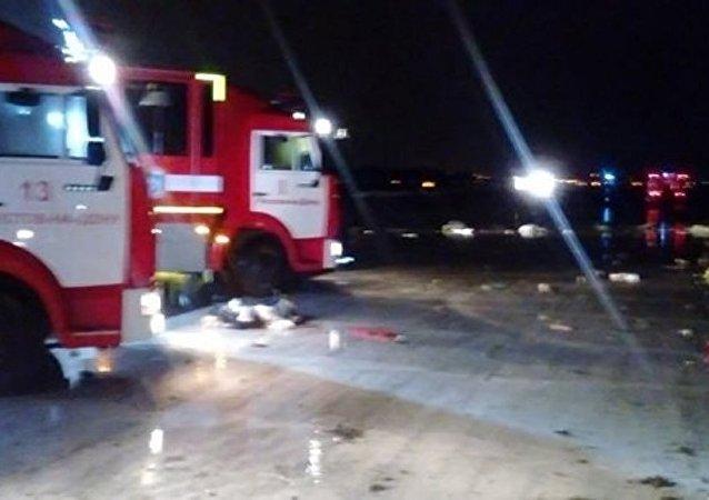 700多名救援和執法人員在羅斯托夫墜機現場工作