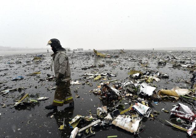 俄紧急状况部:迪拜航空客机出事地点的搜救工作几乎接近尾声