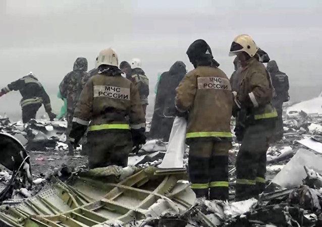 """俄侦查委员会:坠毁的FZ981号航班""""黑匣子""""状况良好"""