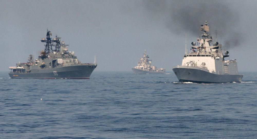 Российско-индийские военно-морские учения ИНДРА-2014