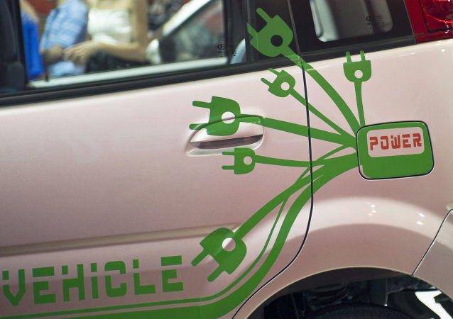 北京展会上的电动车