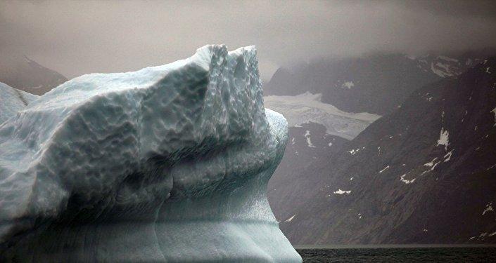 格陵兰岛冰川