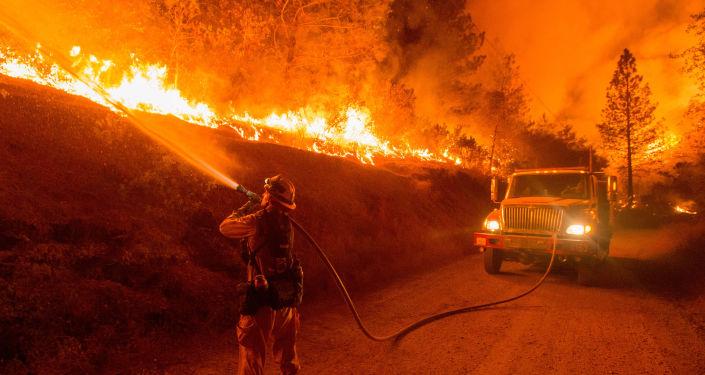 加利福尼亞州森林大火(資料圖片)