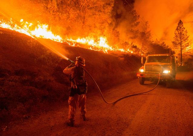 美國加州山火(資料圖片)