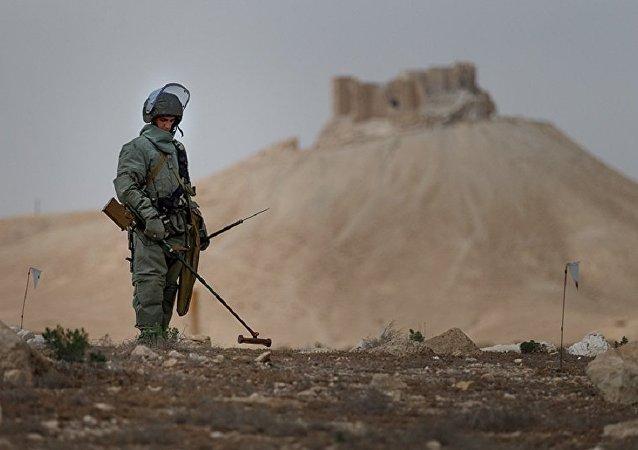 俄国防部与联合国排雷行动处讨论俄工兵在叙工作成果