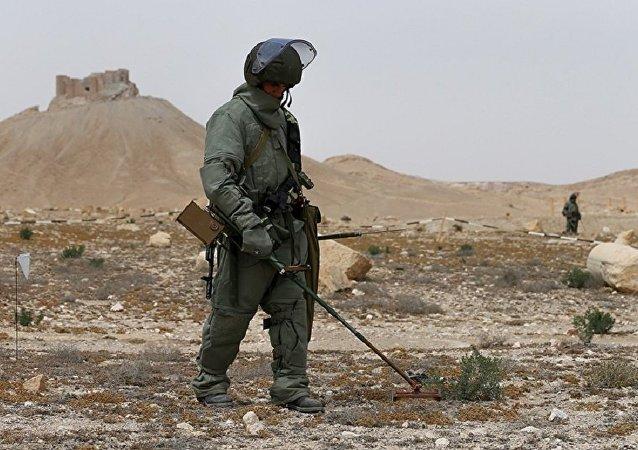 俄武装力量国际排雷中心培养约250名叙利亚工兵