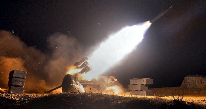 朝鮮發射導彈(資料圖片)