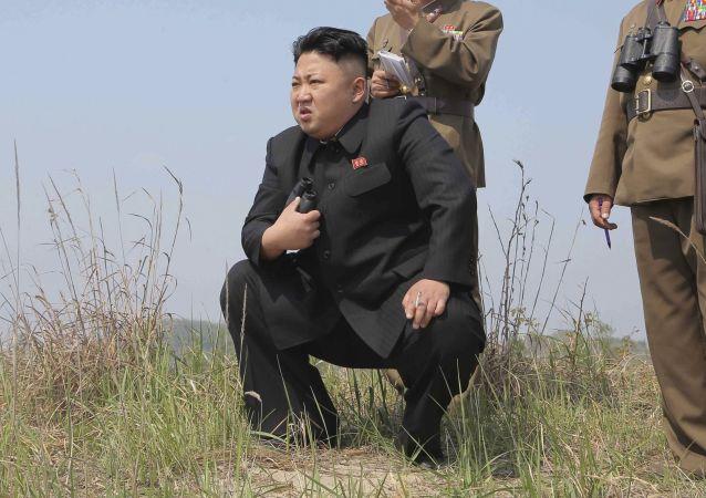"""金正恩亲自指挥了""""新型""""导弹的发射"""