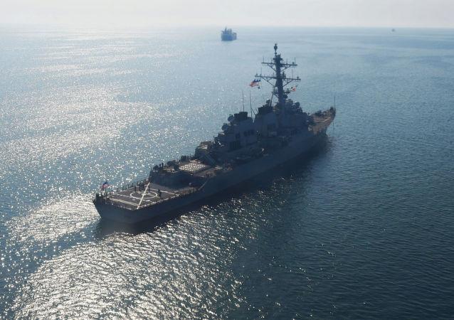 美國軍艦在黑海(資料圖片)
