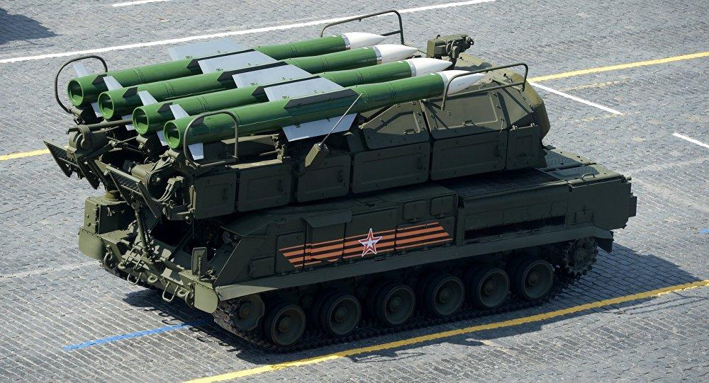 俄「山毛櫸-M2」和「鎧甲-S1」防空系統/資料圖片/