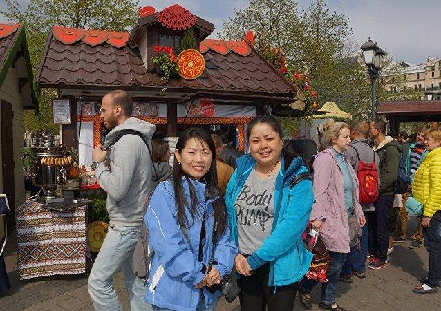 中国旅客在俄罗斯
