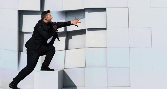 拉扎列夫在为欧洲歌唱大赛2016