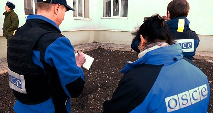 乌国民警卫队以武器威胁欧安组织驻顿巴斯观察员
