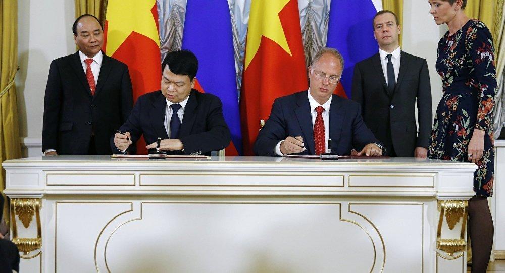 俄罗斯与越南投资5亿美元发展非资源类项目