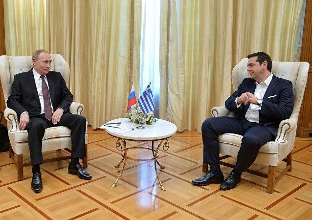 希臘總理齊普拉斯與俄總統普京