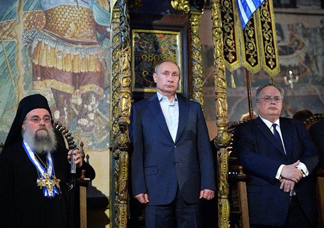 普京:俄罗斯与阿索斯山及全希腊的关系都将得到巩固