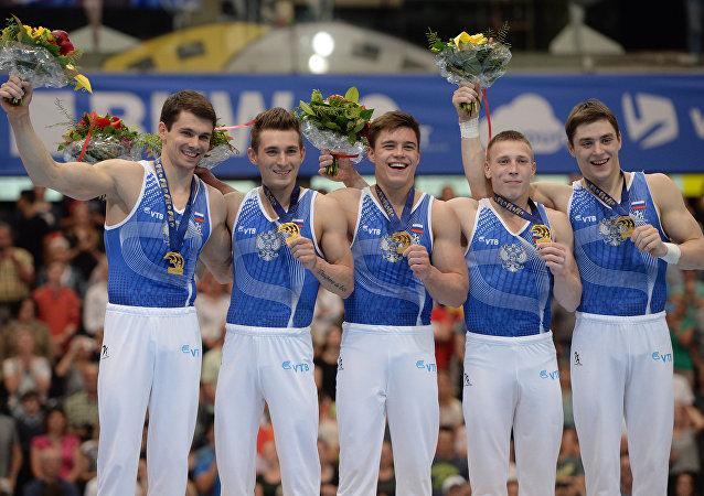 俄體操隊在歐錦賽團體賽中奪得金牌