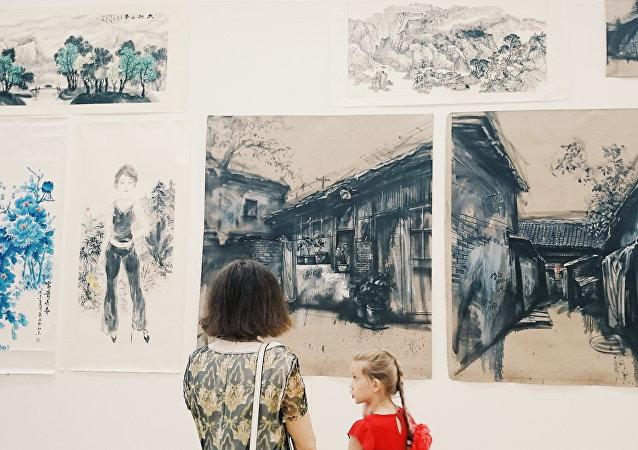 中國書畫展在莫斯科開幕