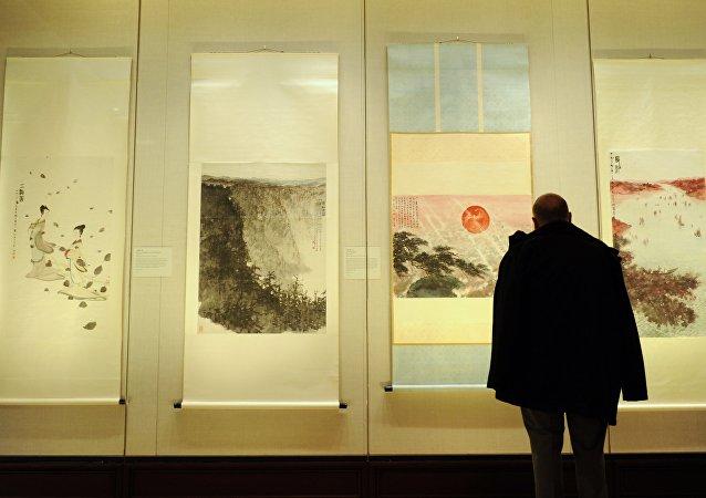 2012年在大都會藝術博物館中的傅抱石作品展