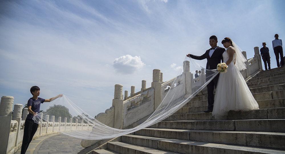 中国一对新婚夫妇