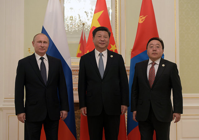 俄中蒙領導