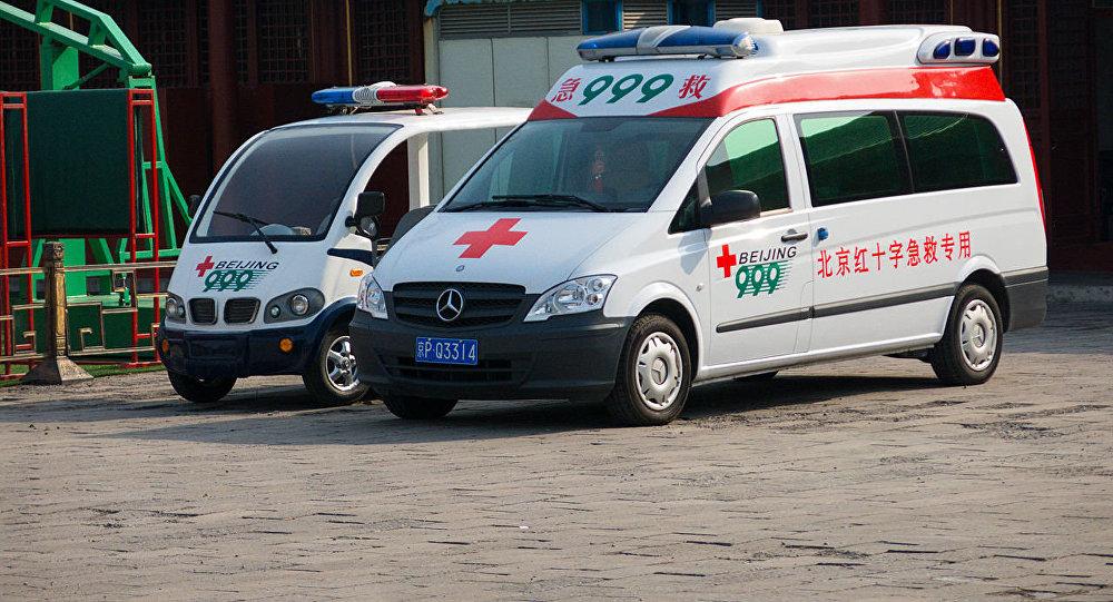 華媒:北京一大廈發生大面積坍塌 1人被送醫