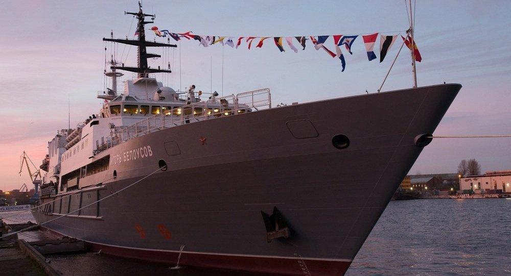 俄國防部:俄海軍「伊戈爾∙別洛烏索夫」號通過蘇伊士運河並繼續航行
