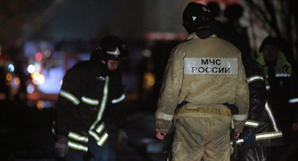 消息人士:莫斯科州建材市場發生火災