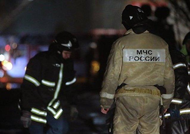俄羅斯莫斯科緊急部門工作人員