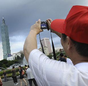 大陸旅客在台北