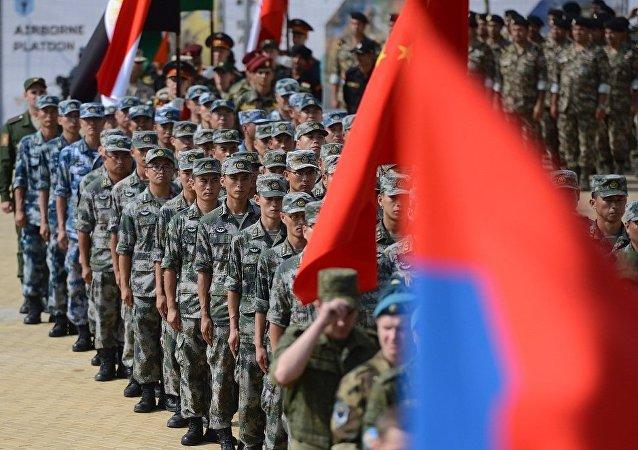 中国在2016国际军事比赛上进行大型文化表演