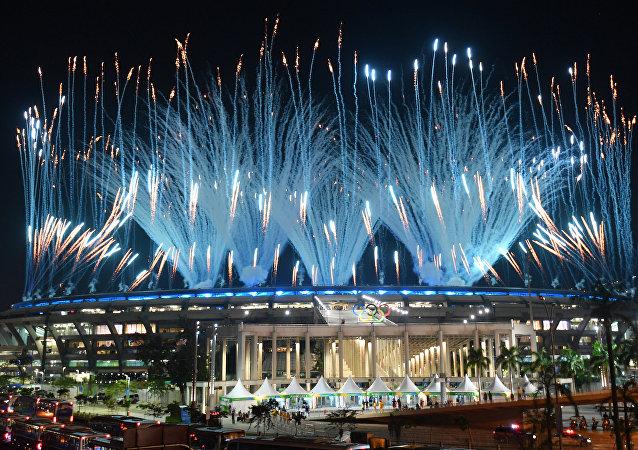 巴西代總統米歇爾·特梅爾宣佈2016年里約熱內盧第31屆奧運會開幕
