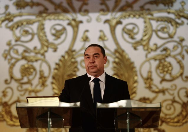 自行宣布成立的卢甘斯克人民共和国的领导人伊戈尔·普洛特尼茨基