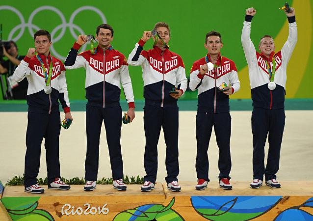 俄體操選手獲2016年奧運會男團銀牌