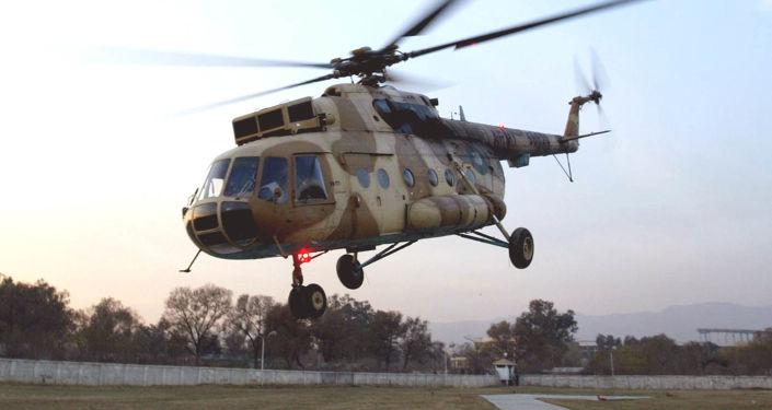 墨西哥一架米-17直升机坠毁