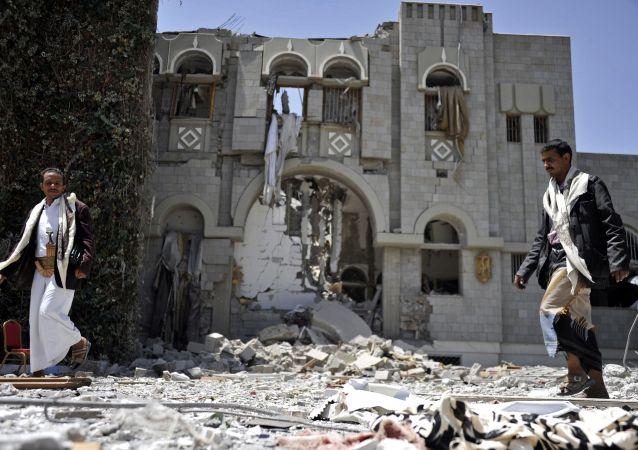 联军对也门医院的空袭(资料图片)