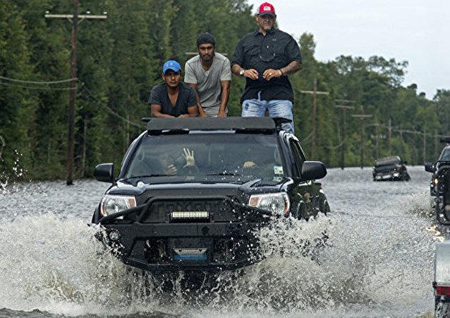 美国路易斯安那州洪灾