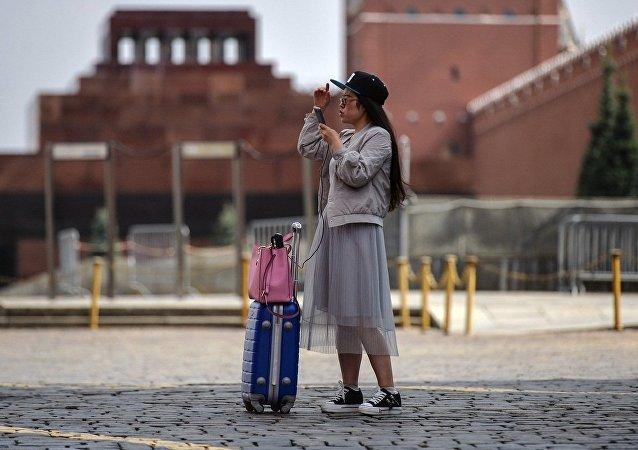 中國旅客在莫斯科