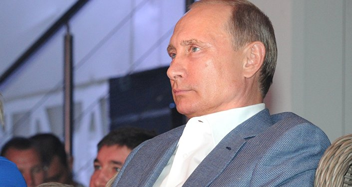 弗拉基米尔·普京在索契举行的国际实战桑搏竞赛