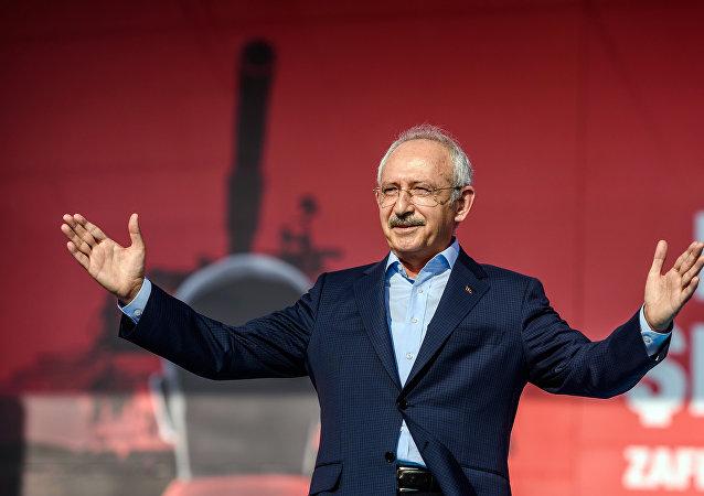 土耳其反對黨共和人民黨主席凱末爾∙科勒齊達奧盧