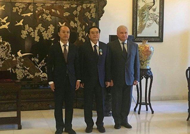 中国国家反恐安全专员程国平程国平被授予俄友谊勋章